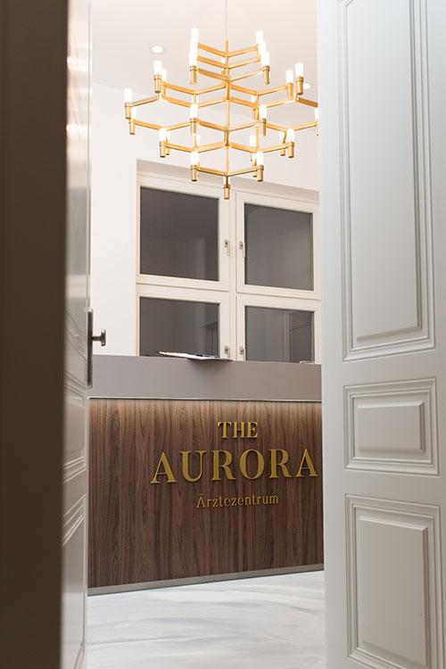 The Aurora Ärztezentrum Eingangshalle