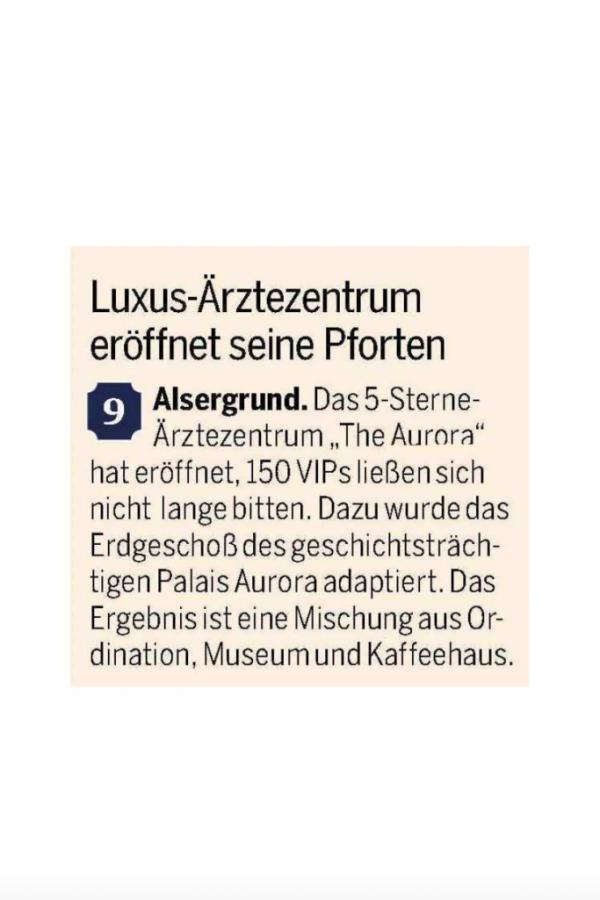 Luxus-Ärztezentrum eröffnet seine Pforten in Alsergrund