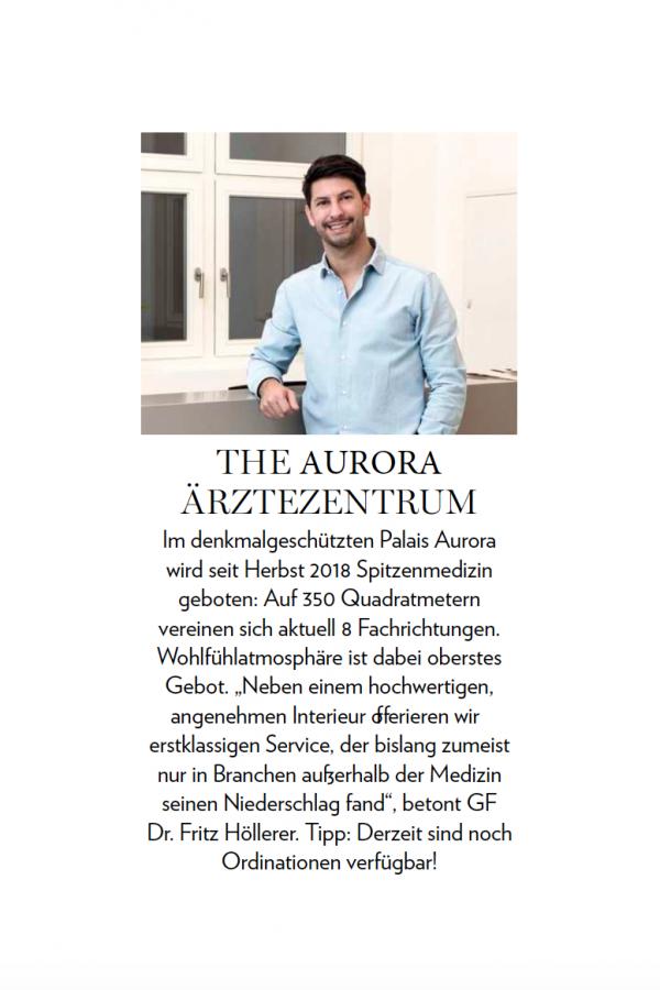 Pressemeldung The Aurora Dr. Fritz Höllerer
