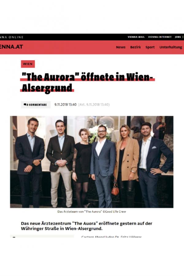 Vienna Online Pressebericht The Aurora Ärztezentrum